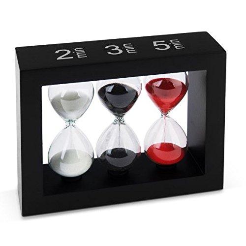 Tea-Timer Sanduhr 2 Min/ 3 Min/ 5 Min Schwarz
