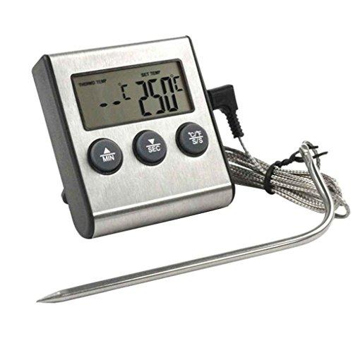 Digitale LCD-Display Probe Lebensmittel-Thermometer Timer Bakeware Küche BBQ Fleisch Gartemperatur Meter Regard Natral - Digital Probe Thermometer