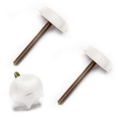 Headboard Bolts White Metal Screws With Strong Plastic Heads Divan Beds New - low-cost UK light store.