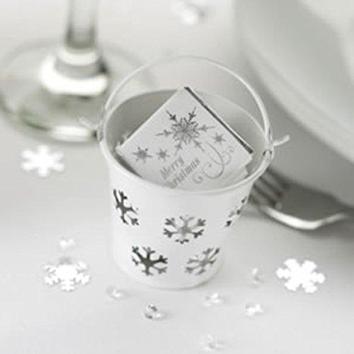Shimmering Snowflake-5bianco fiocco di neve design secchi X594481