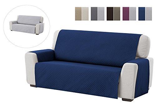 Textil-home salvadivano trapuntato copridivano adele 1 posti/copripoltrona reversibile. colore blu