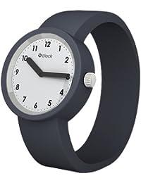 Fullspot O clock OCNW06-L - Reloj analógico de cuarzo unisex con correa de silicona, color gris