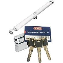 Abus Cruzado 2700W blanco, con xp20s Cilindro, con 3 llaves y tarjeta de Seguridad