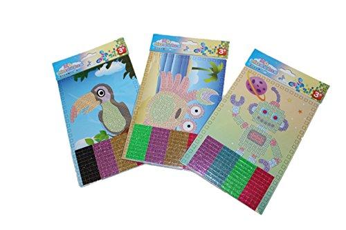 12 X 12 Mosaik (12x Mosaik Klebebild Bild basteln Mitgebsel Kindergeburtstag)
