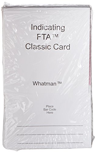 Lab-bereiche-karte (GE Whatman wb120306Markierung FTA Classic Karte, 4Probe Bereiche Pro Karte, 500µl Maximales Volumen (25Stück))