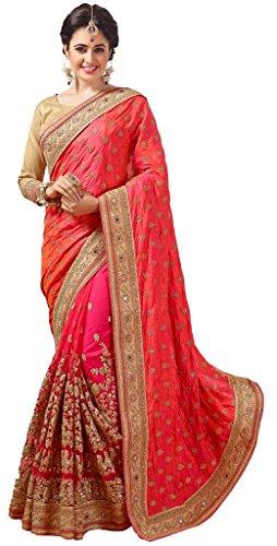 M.S. Retail Net Saree (Ac-Rudraksh_1_Pink)