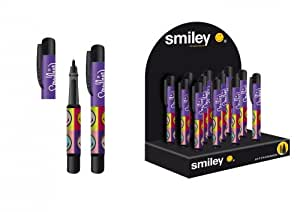 1 Stylo Roller Compact SMILEY - Rechargeable - cartouche fournie