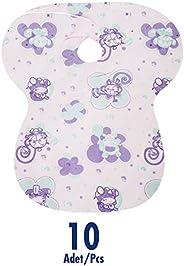 Sevi Bebe 263 Kullan At Bağlamalı Mama Önlüğü (10 Adet), Çok Renkli