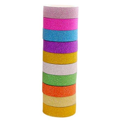 Sannysis Rollo de Cinta de papel para Decoración de Boda Fiesta Hogar, Color aleatorio (8 PCS)