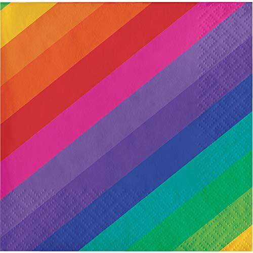 Unbekannt Creative Converting 16Count 3-lagig Getränke Servietten, Rainbow