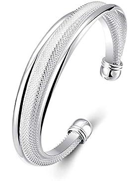 Design in Leather Armreif oder Armband versilbertert Kollektion