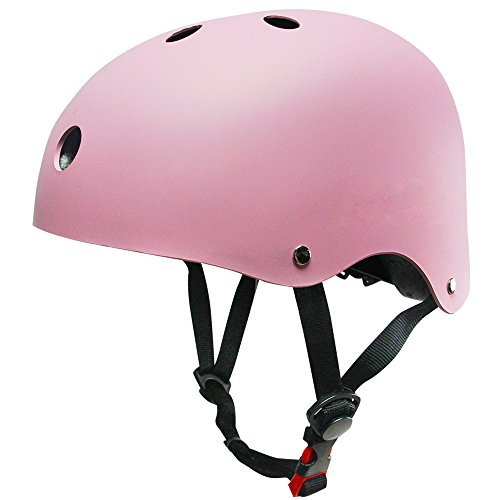 Topfire Kinder Skateboarder Helm Fahrradhelm Integralhelm Rollerhelm für Radfahrer Skateboard Scooter Bike Sicherheit Helm - Rosa