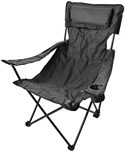 normani Robuster Camping Outdoor Angler Klappstuhl Outdoor Farbe Schwarz Deluxe