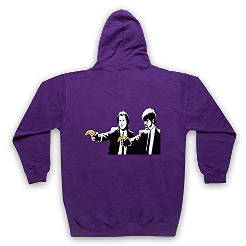 ksy Pulp Fiction Bananas Graffiti Street Art Unofficial Erwachsenen Kapuzensweater mit Rei§verschluss, Violett, 2XL (Erwachsene Banana Hoodie)