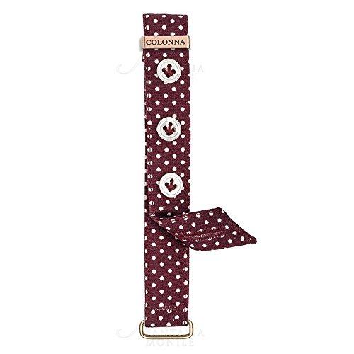 Repuesto muñequeras Sartoriale Mujer Relojes columna algodón tela burdeos Lunares Blancos 12mm dt8pkfm