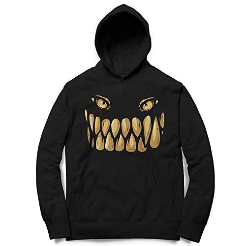 Kinder Kapuzenpullover Hoodie Grusel Monster Face