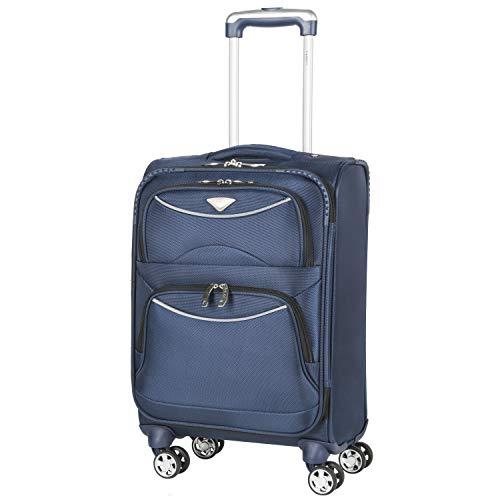 Flight Knight Handgepäck Trolley Koffer Maximalen Größe Für Delta, Virgin Atlantic Und Viele Mehr! easyJet Gepäck Koffer Mit 4 Rollen. 56x35x22cm 1860D Leichtgewicht Reisekoffer