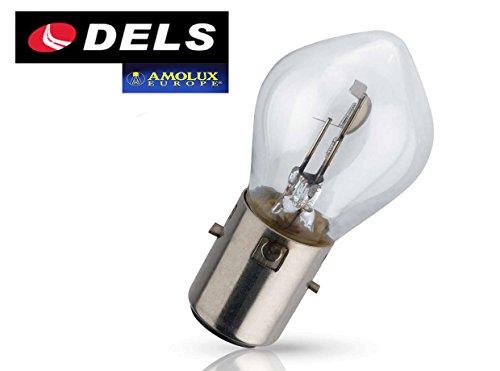 1 BOMBILLA DELS AMOLUX S2 BA20d 12V 35/35W LAMPARA MOTO NORMAL HOMOLOGADA COCHE MAXIMA CALIDAD HALOGENA