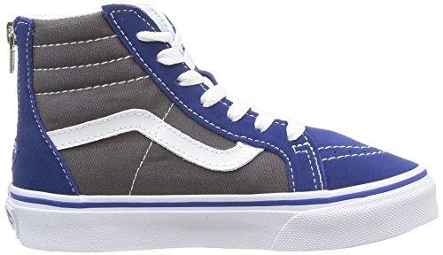 Vans SK8-HI ZIP Unisex-Kinder Hohe Sneakers Blau (true Blue/asphalt)