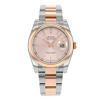 Men's Datejust Automatic Pink Champagne Dial Oyster Stainless Steel & 18k Solid Rose Gold