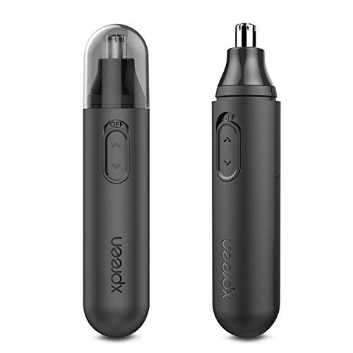 Rifinitore per naso,xpreen tagliapeli per naso nose hair trimmer elettronico precisione per naso, orecchie e sopracciglia cura della persona