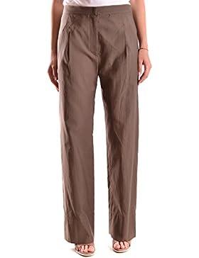 Brunello Cucinelli Mujer MCBI053016O Marrón Algodon Pantalón