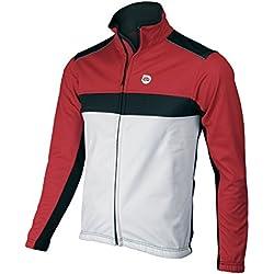Eltin Pro - Chaqueta para hombre, color rojo / negro / blanco, talla XXL