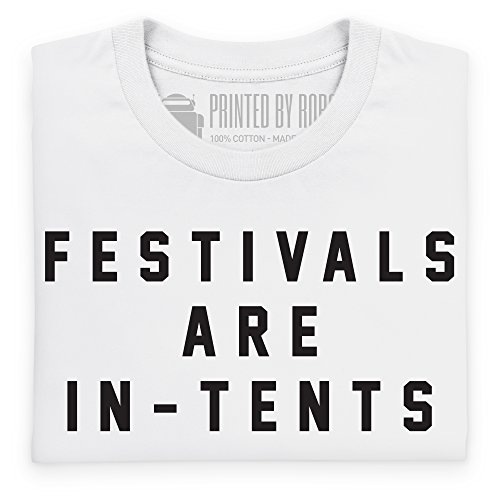 Festivals Are In-Tents Boyfriend Cut T-Shirt, Herren Wei