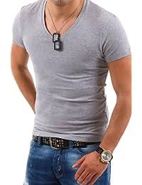 Behype T-Shirt Deep V-Neck manches courtes TS-100