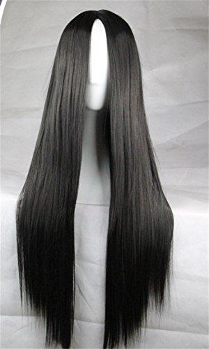 Langhaar Glatte Perücke mit vorner Spitze Ombre Straight Spitze-Front-Perücke Cosplay Kostueme Frauen 75cm (Frauen Kostüme)
