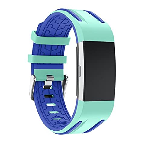 For Fitbit Charge 2, Toamen New Fashion Sports Silicone Bracelet Strap Band For Fitbit Charge 2 (Mint