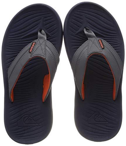 Quiksilver Jungen Sandalen (Quiksilver Jungen Oasis Sport Sandalen, Grau (Grey/Orange Xssn), 28 EU)