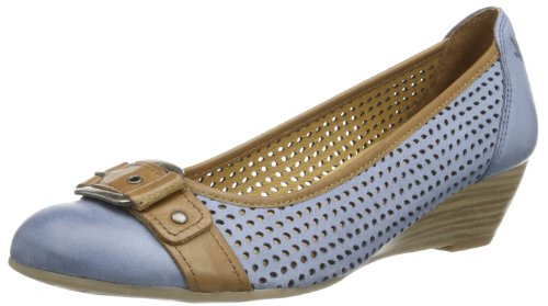 Caprice Alices-9-8 9-9-22506-22 Damen Pumps Blau (MID BLUE/NUT 867)