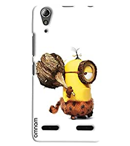 Omnam Minion In Early Age Printed Designer Back Cover Case For Lenovo A6000