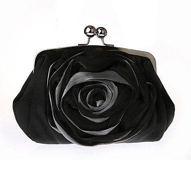 Hand Tasche falten Seide chiffon Spitze Blumen kleid Paket die Kette braut Paket single Schultertasche Black