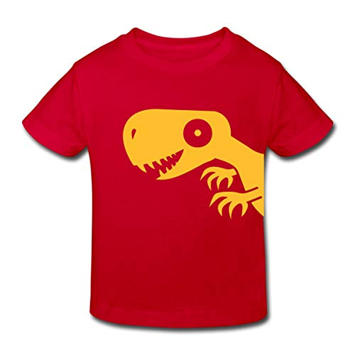 Continental Mädchen T-shirt (Spreadshirt Tyrannosaurus Rex Kinder Bio-T-Shirt, 110/116 (5-6 Jahre), Rot)