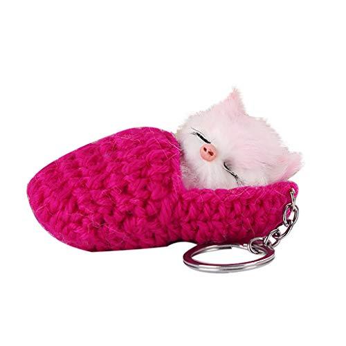 ZJE - Llavero con diseño de gatito dormido