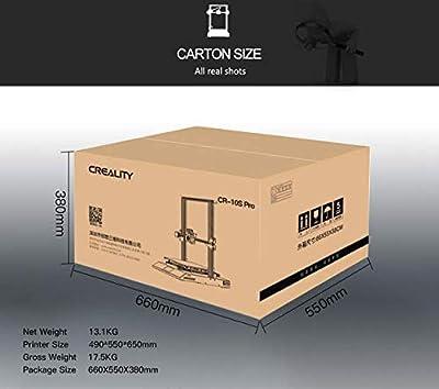 Offizieller Creality CR-10S Pro, ultra-leiser, hochpräziser 3D-Drucker CR10S Pro mit automatischer Nivellierung, Druckwiederaufnahme, Doppelzahnrad-Extrusion und Filamenterkennung