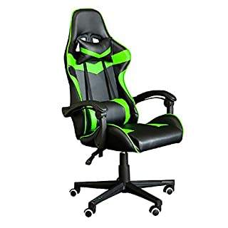 YGB Racing Gaming Computer Office Chair,Ergonomic Conference Executive Manager Work Chair High Back Adjustable Swivel Computer Desk Task Chair Tilt E-Sports Chair(Green)