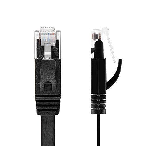 TNP flaches Ethernet-Kabel CAT6, 52LM,- und Anti-UTP Twisted Pair, RJ45-Computer-LAN-Netzwerk-Patch-Kabel, Schwarz -