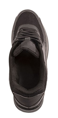Trendige Unisex Sneaker | Damen Herren Kinder Sport Laufschuhe | Turnschuhe Schwarz Lincoln