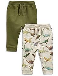 next Niños Infantes Paquete De 2 Pantalones De Chándal Joggers Dinosaurio Beige (3 Meses-6 Años)
