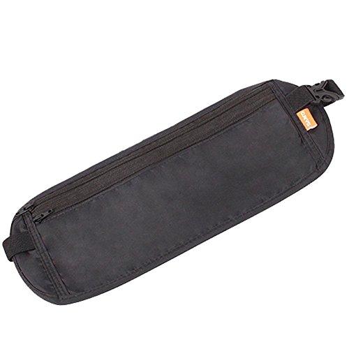 BRG315 Outdoor - Sport Laufen Tasche Taschen Reise Anti - Diebstahl Geldbörse Unsichtbare Pass Paket Multifunktions Dokumente Paket Black
