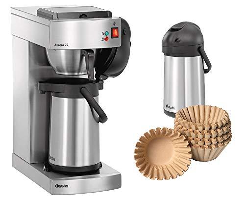 Bartscher Kaffeemaschine Aurora 22 + 500 Korbfilter + 2. Pumpkanne