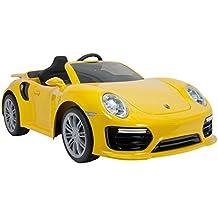 Injusa - Coche Porsche 911 Turbo S 6 V iMove Special Edition con sonidos y luces, color amarillo (7182)