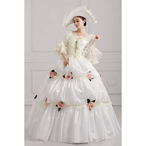 Langes Kleid Halloween Gericht Kleid Royal Court Kostüm Für Frauen Queen Make Up Party Kleidung ()