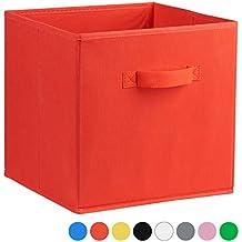 Amazon Fr Cube De Rangement Tissu Rouge