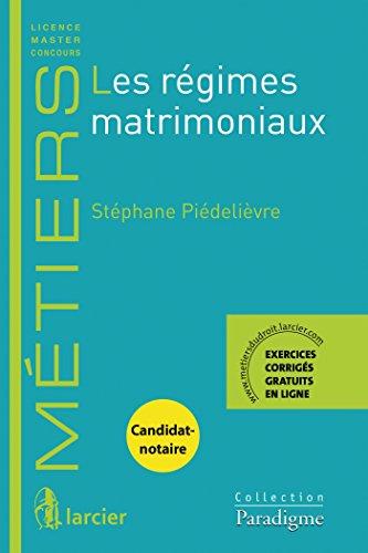 Les régimes matrimoniaux por Stéphane Piedelièvre