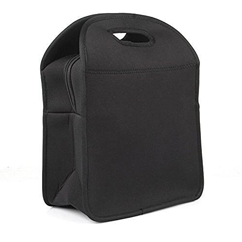 LAGUTE Neopren Lunchtasche Lunch-Taschen Thermotasche Kühltasche, Neoprene Lunch Tote *Schwarz*
