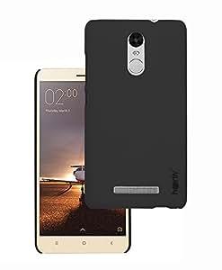 Heartly Sandstone Matte Ultra Thin Back Case For Xiaomi Redmi Note 3 / Redmi Note 3 Pro / Redmi Note 3 Prime - Rugged Black